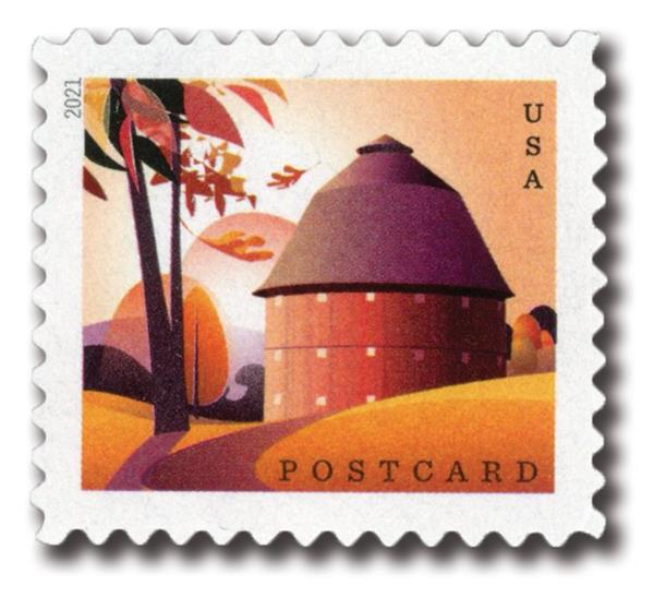 2021 36c Barns: Round Barn in Fall