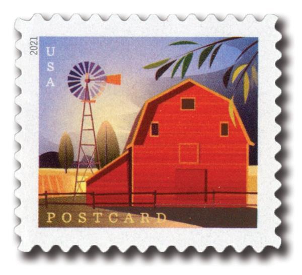 2021 36c Barns: Gambrel-Roofed Barn in Summer