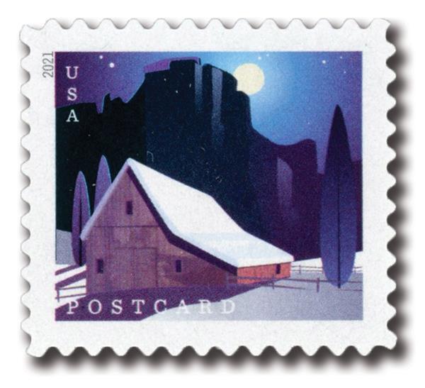 2021 36c Barns: Western Barn in Winter