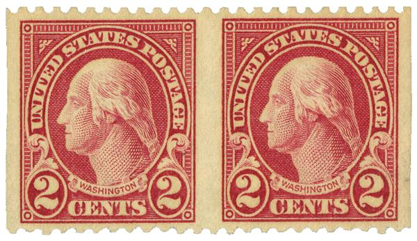 1923 2c Washington horiz pr imperf vert