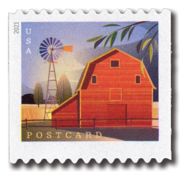 2021 36c Barns (coil): Gambrel-Roofed Barn in Summer