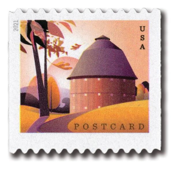 2021 36c Barns (coil): Round Barn in Fall