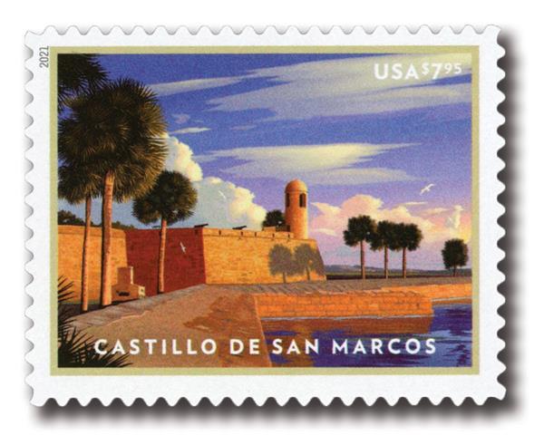 2021 $7.95 Castilla de San Marcos, Priority Mail