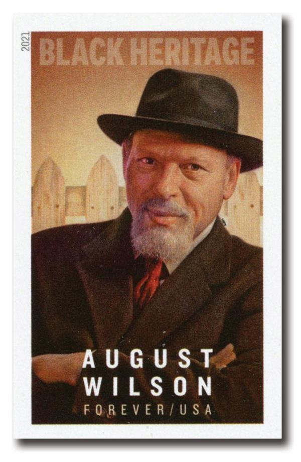 2021 First-Class Forever Stamp - Black Heritage: Imperforate August Wilson