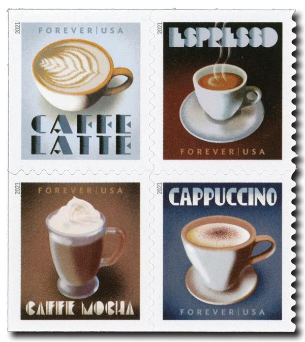 2021 First-Class Forever Stamps - Espresso Drinks