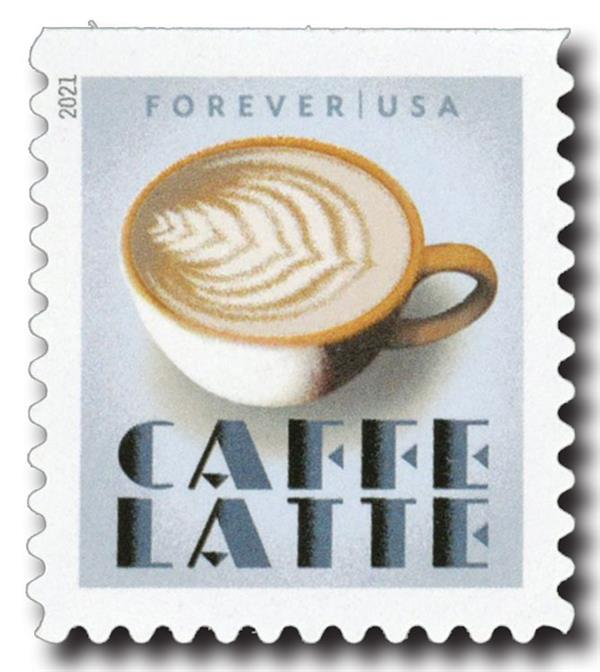 2021 First-Class Forever Stamp - Espresso Drinks: Caffe Latte