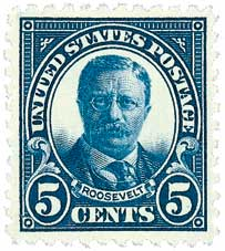 U.S. #557 was issued on Roosevelt's 64th birthday.