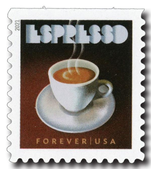 2021 First-Class Forever Stamp - Espresso Drinks: Espresso