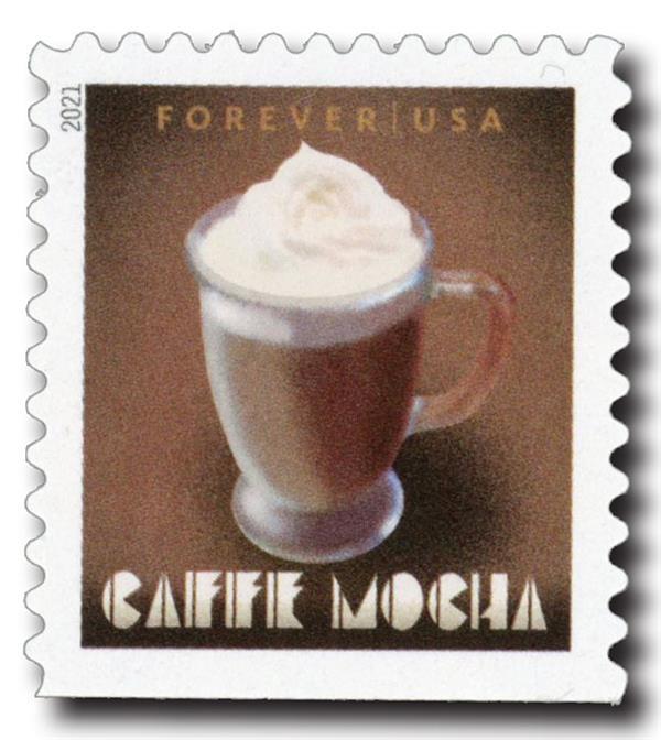 2021 First-Class Forever Stamp - Espresso Drinks: Caffe Mocha