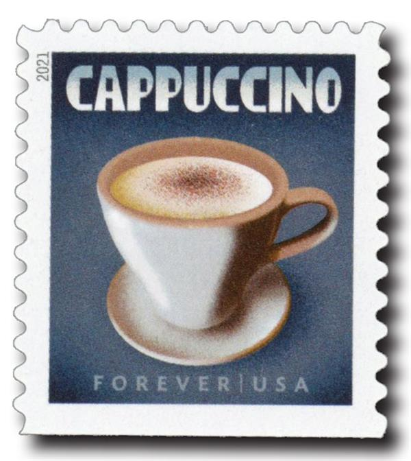 2021 First-Class Forever Stamp - Espresso Drinks: Cappuccino