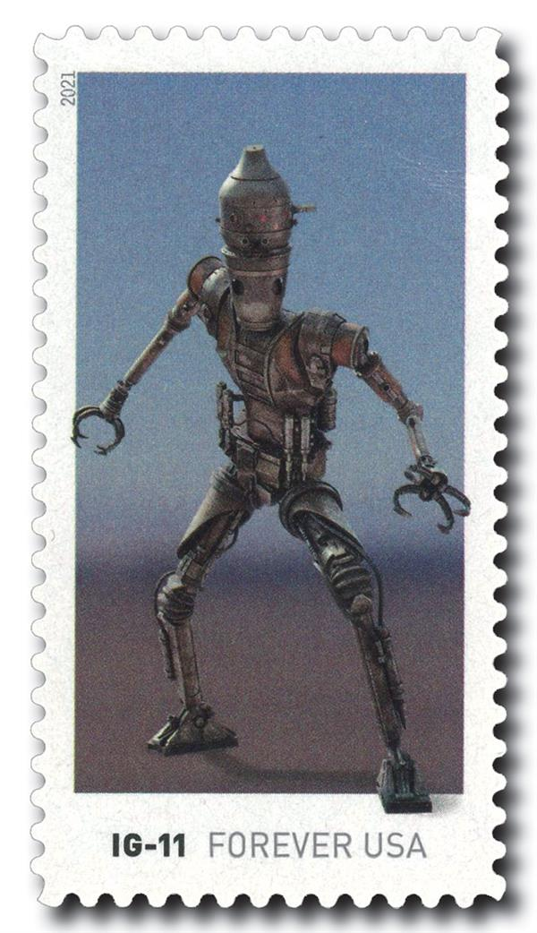 2021 First-Class Forever Stamp - Star Wars Droids: IG-11