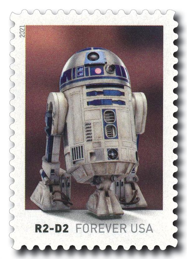 2021 First-Class Forever Stamp - Star Wars Droids: R2-D2