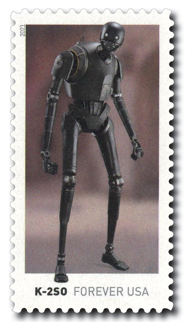 2021 First-Class Forever Stamp - Star Wars Droids: K-2SO