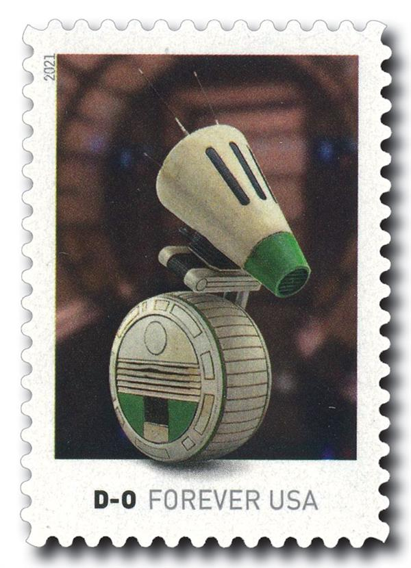 2021 First-Class Forever Stamp - Star Wars Droids: D-O