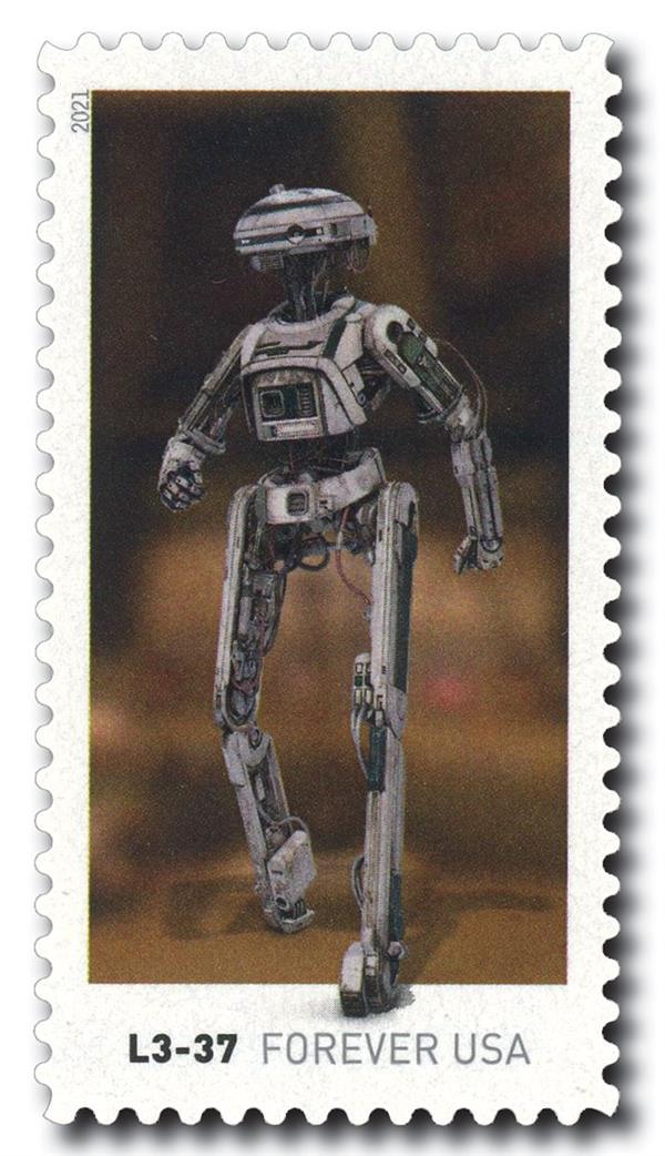 2021 55c First-Class Forever Stamp - Star Wars Droids: L3-37