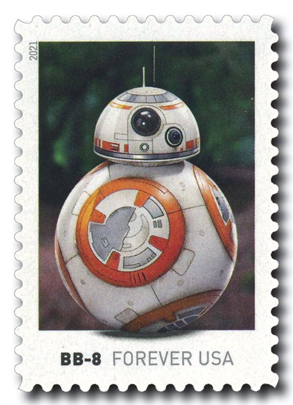 2021 First-Class Forever Stamp - Star Wars Droids: BB-8