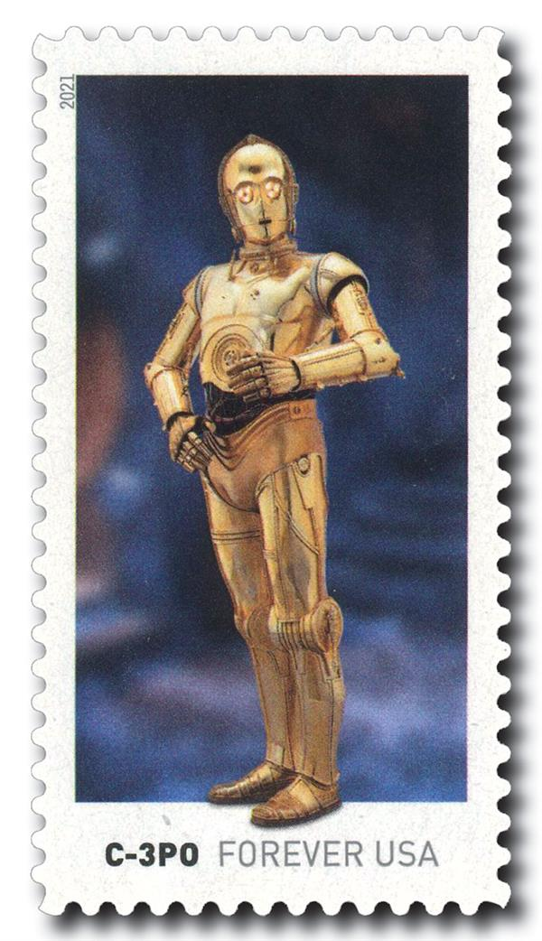 2021 First-Class Forever Stamp - Star Wars Droids: C-3PO