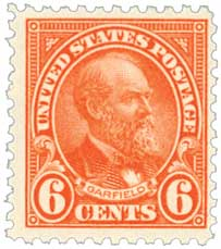 1922 6c Garfield, red orange