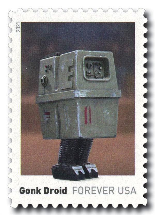 2021 First-Class Forever Stamp - Star Wars Droids: Gonk Droid