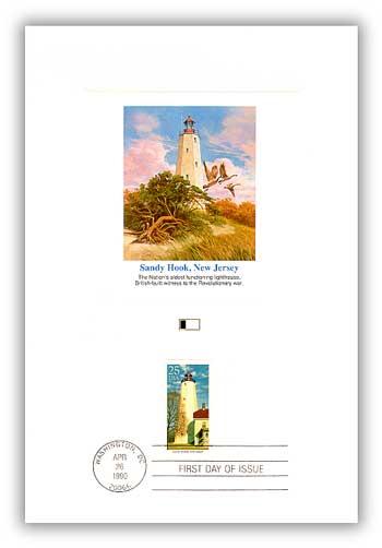 1990 Sandy Hook 25c Proofcard