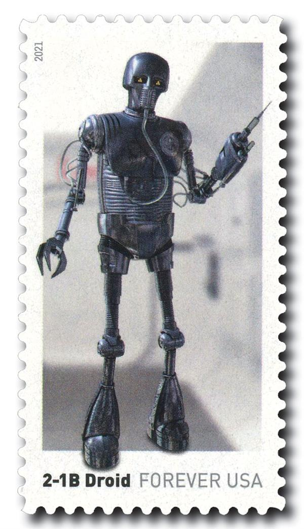 2021 First-Class Forever Stamp - Star Wars Droids: 2-1B Droid