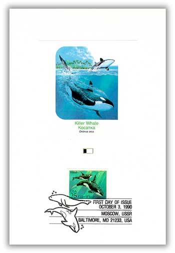 1990 Killer Whale 25c Proofcard