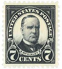 1923 7c McKinley, black