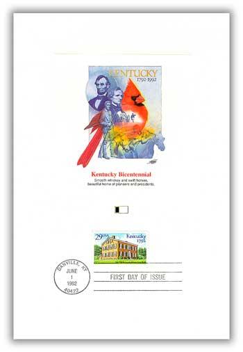 1992 Kentucky Statehood Proofcard