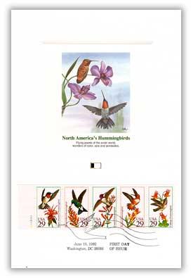 1992 Hummingbirds Combo Proofcard