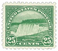 1922 25c Niagara Falls, green