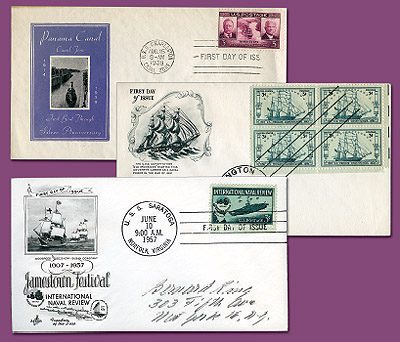 1994 Set of 1939,1947 and 1957 Classic FDCs