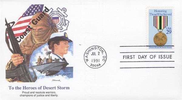 1991 D.S. Hamrick 29c Coast Guard FDC