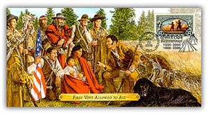 """2005 Lewis & Clark """"First Vote Allowed to All"""" Commemorative Cover"""