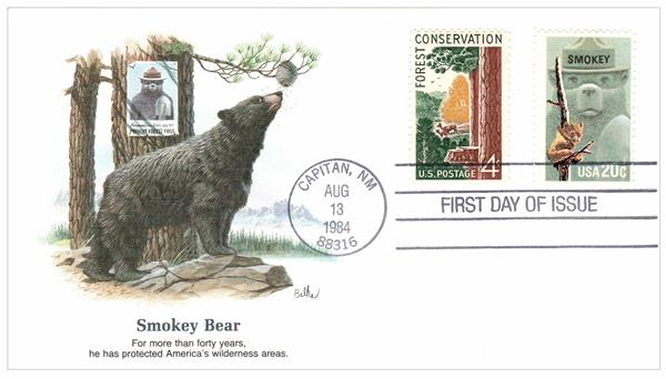 1984 Smokey Bear Fleetwood Combination First Day Cover