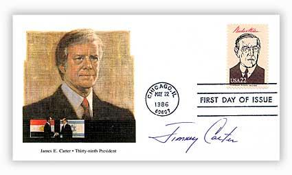 1986 22c Presidents-Jimmy Carter