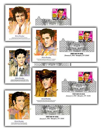 1993 Elvis First Day Covers Set/5