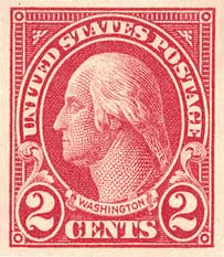 1925 2c Washington, imperforate, carmine