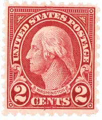 1924 2c Washington, carmine