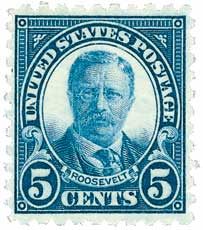 1924 5c Theodore Roosevelt, blue