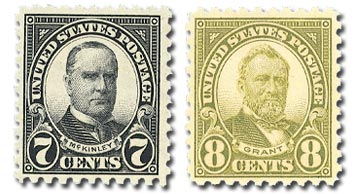 1926 McKinley and Grant, set of 2 stamps