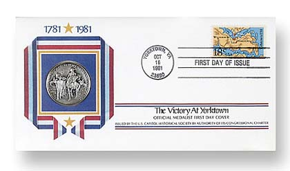 1981 Yorktown Silver FDC with Album