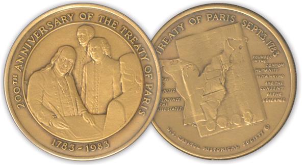1983 Medal 200th Anniversary Treaty of Paris