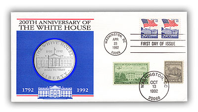 1992 White House Bicentennial Coin Cover