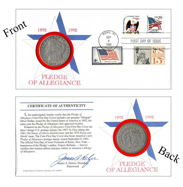 Commemorative Coin Cover commemorating the first publishing of the Pledge.