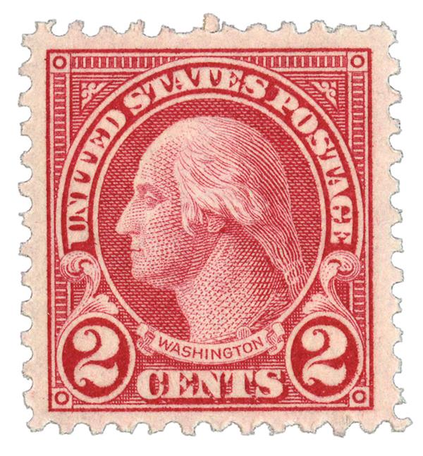 1923 2c Washington, carmine, perf 11