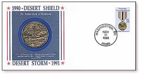 1993 Heroes of Desert Storm Medalist Cover