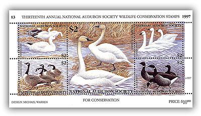 1997 Audubon Stamp Sheetlet