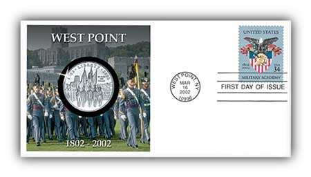2002 West Point Coin First Day Cover