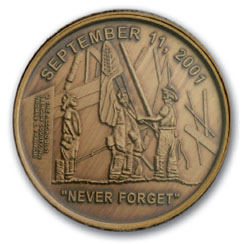 2002 Heroes Never Forget Medal in Card