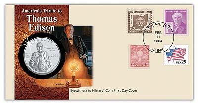2004 Thomas Edison Commemorative coin cover